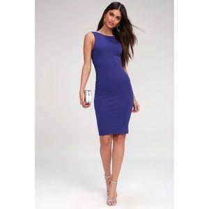 NWT Lulus Like a Lady Blue Backless Mini Dress S